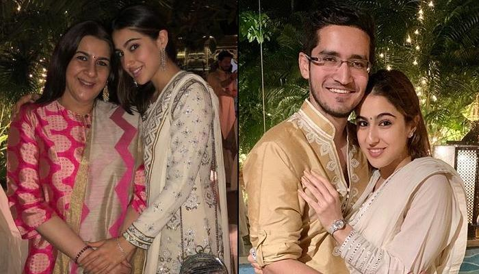 Sara Ali Khan Twins With Her Mom, Amrita Singh For A Diwali Party, They Look Like A Vision In White