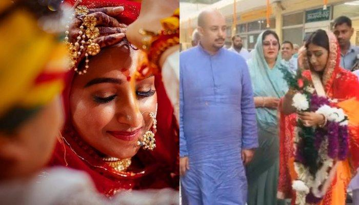 Mohena Kumari Singh Gets A Royal Welcome As She Visits Delhi With Her Hubby, Suyesh And In-Laws
