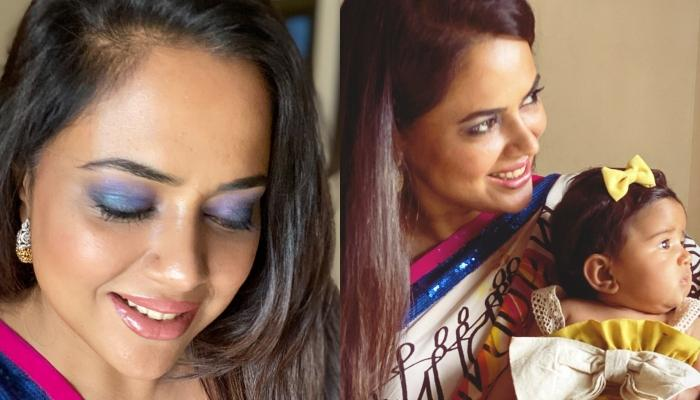 Sameera Reddy Celebrates Her First Dhanteras With Newborn Daughter, Nyra, Shares Adorable Pictures