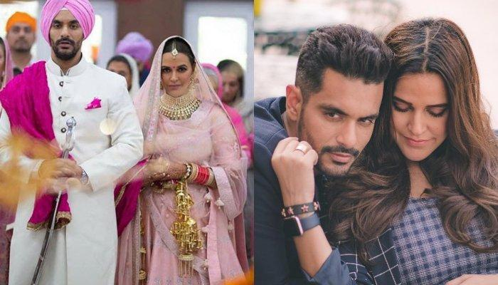 Neha Dhupia Forgets Her Wedding Month In A Chat Show, Hubby Angad Bedi's Reaction Is Hilarious