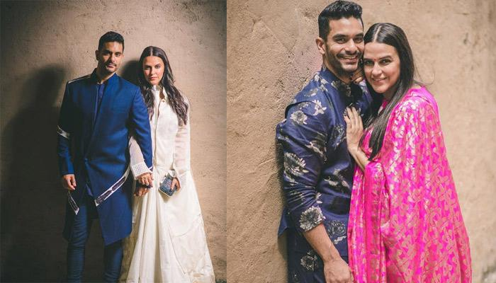 Neha Dhupia And Angad Bedi Celebrate Their Daughter, Mehr's First Diwali, She Looks Pretty In Pink