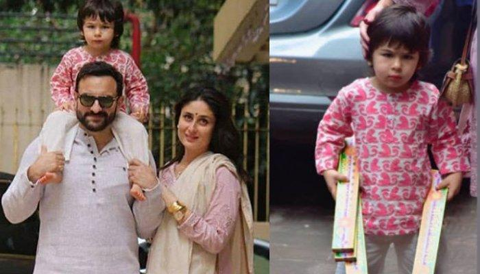 Taimur Ali Khan Refuses To Move When Kareena Kapoor Asks Him To, Looked Royal In Evening For Diwali