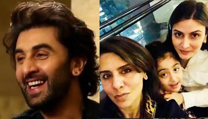Ranbir Kapoor Poses With Mother, Neetu Singh And Sister, Riddhima Sahni In A Perfect Diwali Selfie
