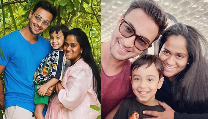 Arpita Khan Sharma Flaunts Baby Bump In Family Portraits With Aayush And Ahil From Maldives Holiday