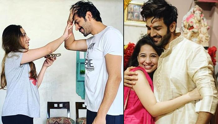 Kartik Aaryan Touching His Younger Sister, Kritika's Feet On Bhai Dooj Is Every Indian Brother Ever