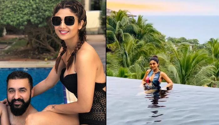 Shilpa Shetty Kundra Enjoys Her Pool Time In A Bikini, Raj Kundra's Comment Is 'Too Hot To Handle'