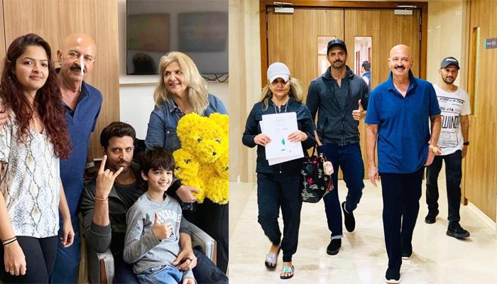 Rakesh Roshan Gets Discharged After First Surgery, Hritihk Roshan And Pinkie Roshan Pose Happily