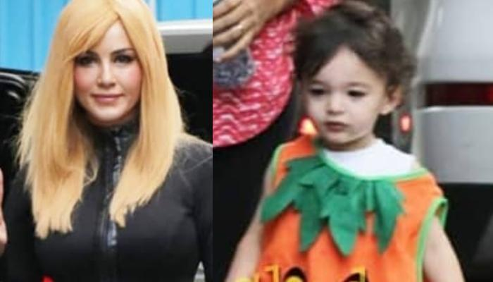 Sunny Leone's Kids, Asher And Noah Twin In Matching Pumpkin Ensemble For Halloween Party, Look Cute