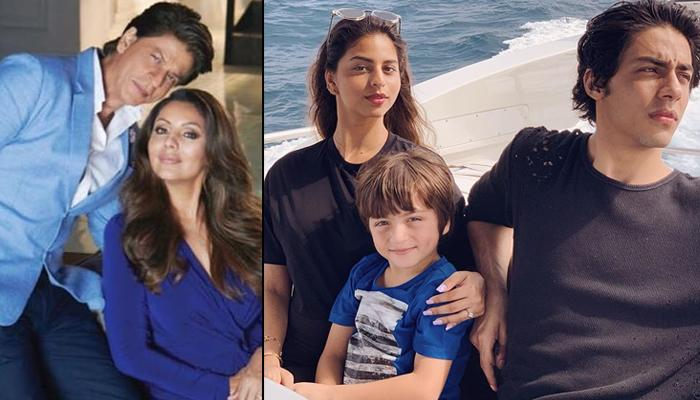 Shah Rukh Khan And Gauri Khan 'Squeeze Memories Into One Frame' With Aryan, Suhana And AbRam Khan