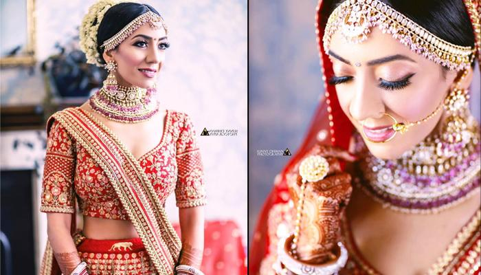 This Sabyasachi Bride Wore A Unique Chooda With Timeless Red Lehenga At Her UK Wedding