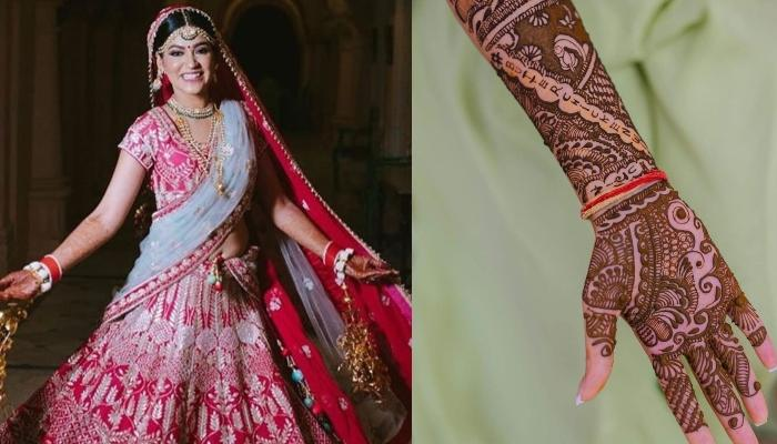 This Bride Sets A Trend With Her Unique 'Butter Chicken With Bhujia' Mehendi Design