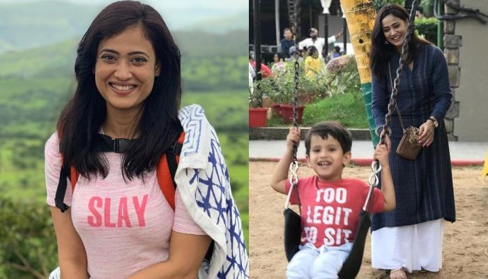 Shweta Tiwari Takes Her Son, Reyansh On The Sets Of Her TV Show, 'Mere Dad Ki Dulhan'