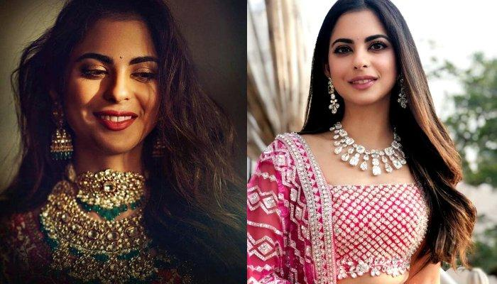 Isha Ambani's Lilac Lace Saree With Diamond Kamarbadh Is All You Need To Ace This Wedding Season