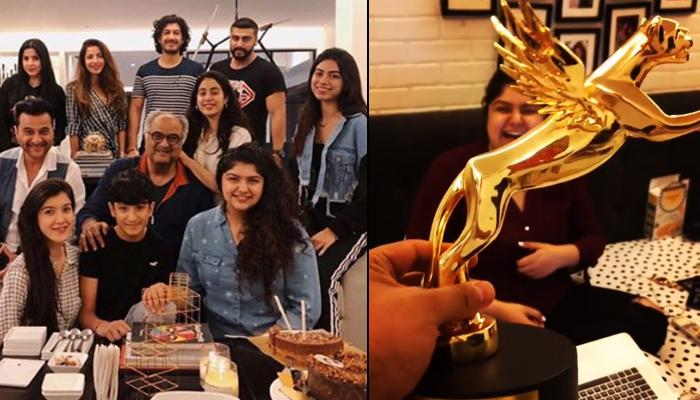 Arjun Kapoor, Janhvi Kapoor Are Proud Of Anshula Kapoor As She Receives Her First Award For Fankind