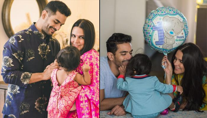 Neha Dhupia And Angad Bedi Share The First Glimpse Of Mehr Dhupia Bedi's First Birthday Celebrations