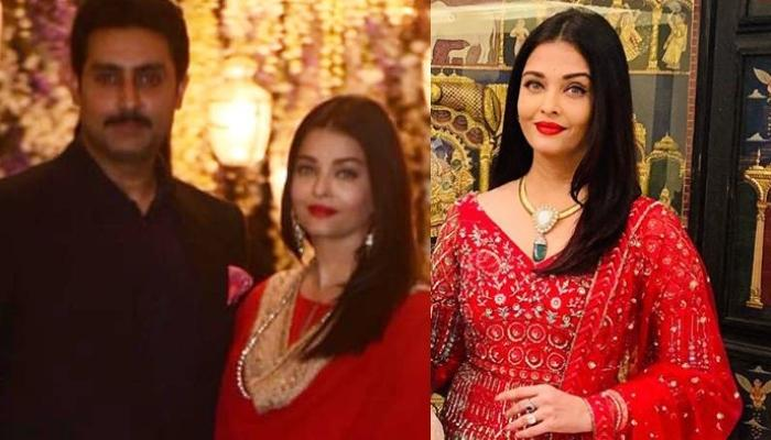 Aishwarya Rai Bachchan Stuns In A Red Anarkali With Intricate Embroidery, Shares Cute Family Picture