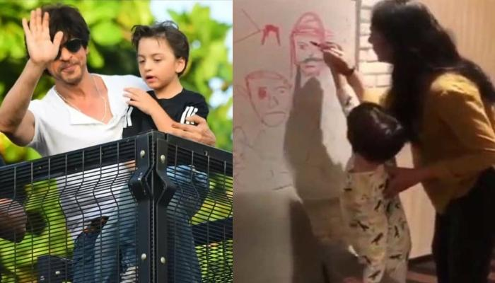 Shah Rukh Khan's Son, AbRam Khan Looks Cute As He Learns Doodling, Video Inside