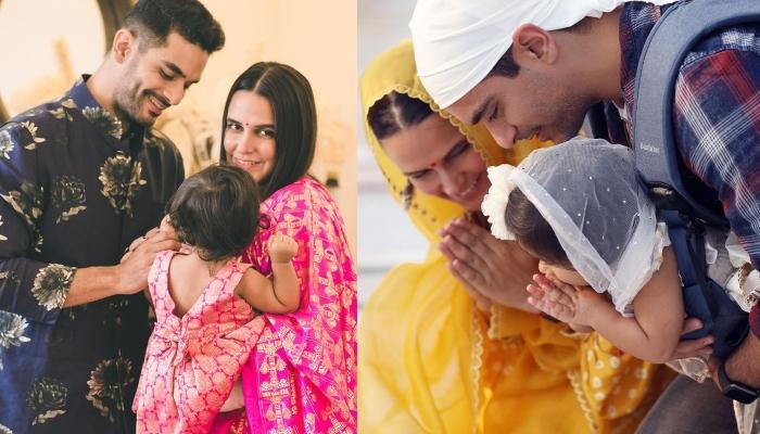 Angad Bedi Shares Pictures Of His Daughter, Mehr's First Birthday Celebrations At Golden Temple