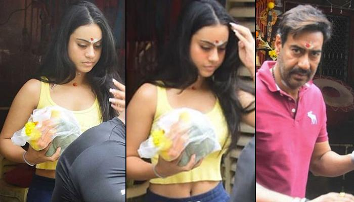 Nysa Devgan Gets Brutally Trolled For Wearing A Crop Top To The Temple As She Visits With Ajay Devgn