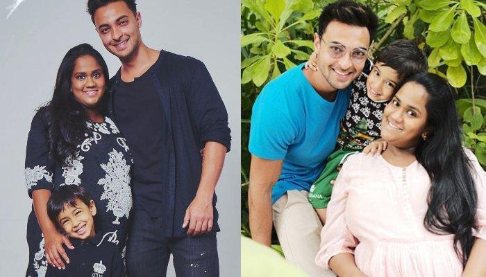Aayush Sharma Rests His Head On Preggy, Arpita Khan's Baby Bump, Calls Her 'Grumpy Mumma Bear'