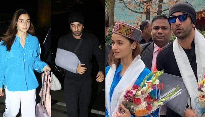 Alia Bhatt And Ranbir Kapoor Flaunt The Himachali Look As They Receive A Warm Welcome In Manali