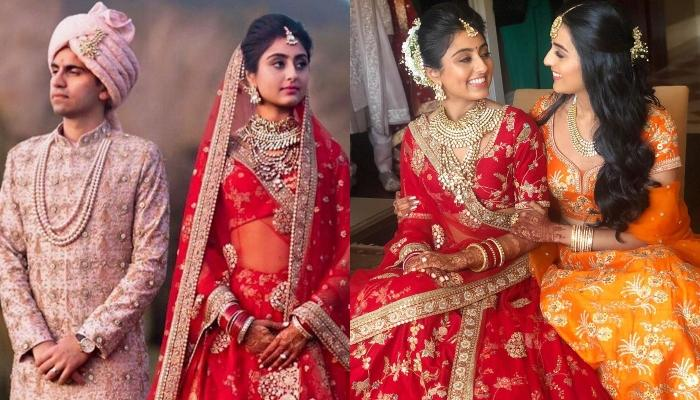 This Bride And Her Sister Wore Similar Sabyasachi Mukherjee Lehengas, Giving Us Sister Goals