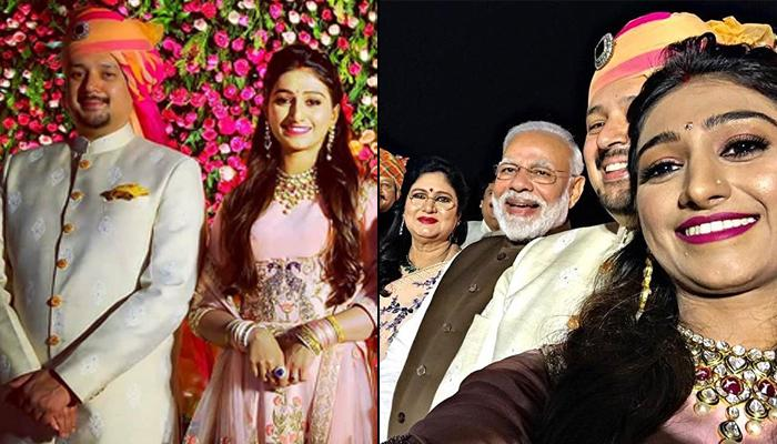 Mohena Kumari Singh And Suyesh Rawat's Delhi Reception Was Attended By PM Narendra Modi [VIDEOS]