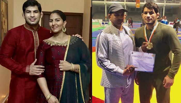 Geeta Phogat Congratulates Hubby, Pawan Kumar Saroha For Winning Gold Medal In National Championship