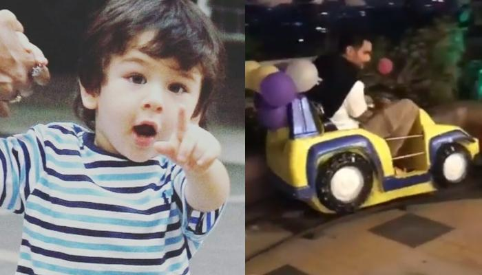 Taimur Ali Khan Gets Amazed To See Angad Bedi Riding The Toy Train With Other Kids, Video Inside
