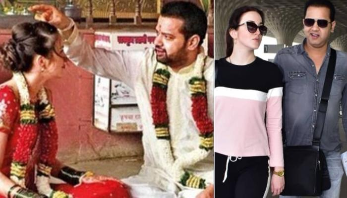 Rahul Mahajan And Wife Natalya Ilina Make First Public Appearance As They Leave For Honeymoon