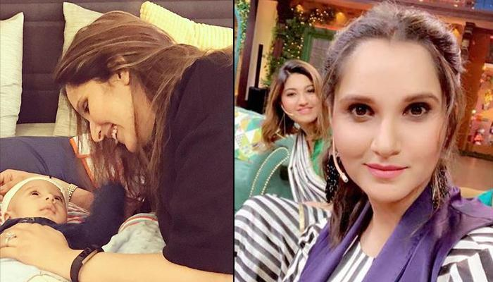 Sania Mirza Makes First Appearance Post Izhaan's Birth, Twins With Sis Anam On Kapil Sharma's Show