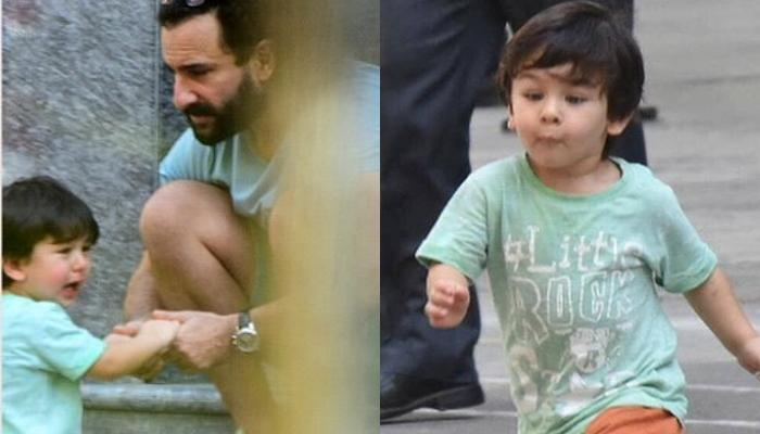 Taimur Ali Khan Crying In Front Of His Abba Saif Ali Khan For Chocolate Will Break Your Heart