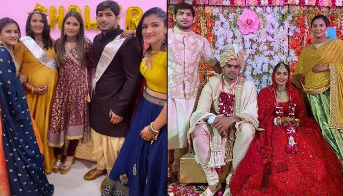 Geeta Phogat Receives A Surprise Baby Shower At Her Sister, Babita Phogat's Wedding Reception