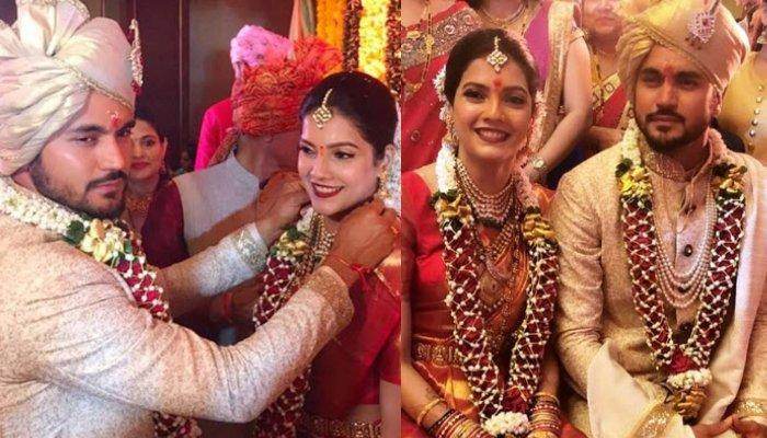 Ashrita Shetty Ties The Knot With Cricketer, Manish Pandey, Looks Ethereal In Kanjeevaram Saree