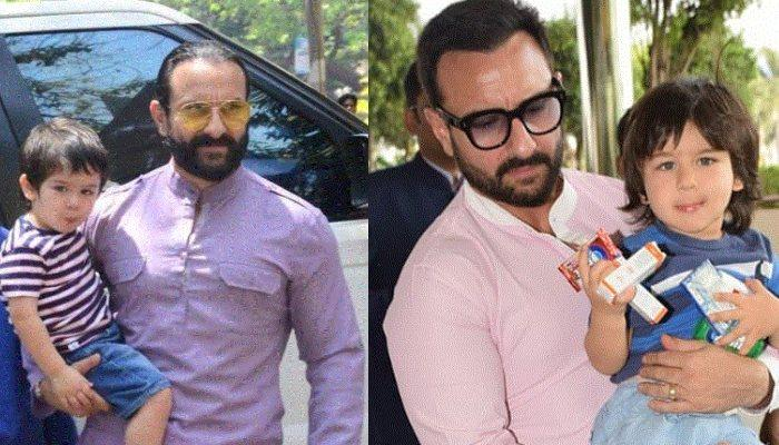 Taimur Ali Khan Accompanying Daddy, Saif Ali Khan At The Airport Is Perfect Father-Son Goals