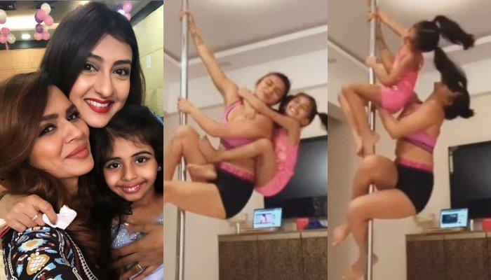 Juhi Parmar's Daughter, Samairra And Her Maasi, Aashka Goradia's Pole Dance Is Amazing Beyond Words