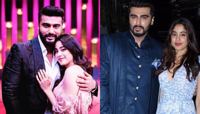 Arjun Kapoor And Janhvi Kapoor Twin In Blue And Strike For A Perfect Pose At 'Panipat' Screening