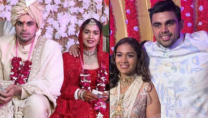 Babita Phogat Posts Unseen Moments From Varmala Ceremony With Vivek, Their Happiness Knows No Bounds