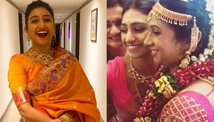 Mohena Kumari Singh Radiates Newbie Bride Glow As She Dresses Up For A South-Indian Wedding