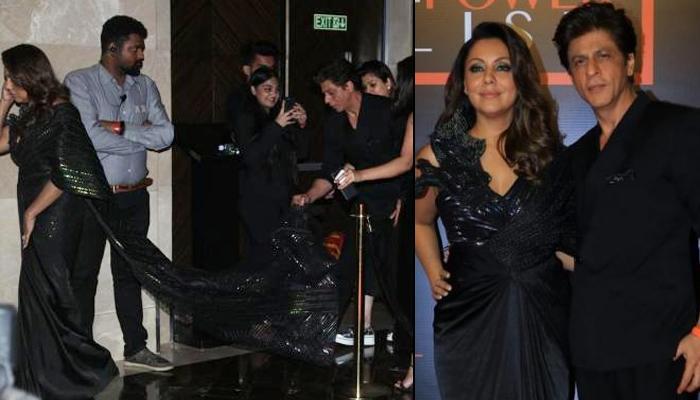 Shah Rukh Khan Holding Gauri Khan's Train From Getting Spoilt Makes Him The Best Husband Ever