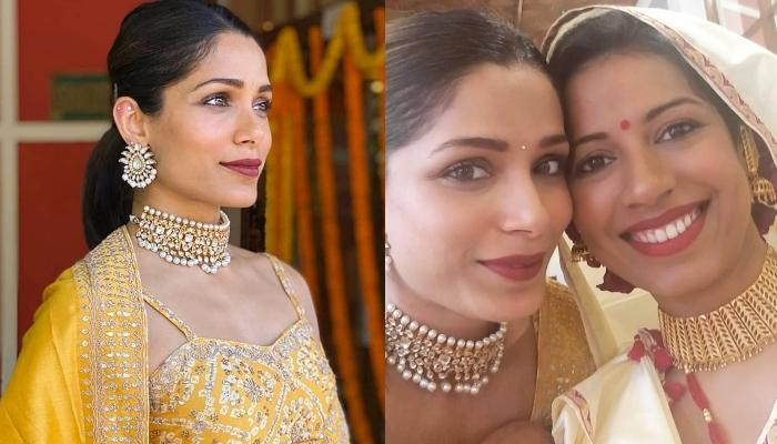 Freida Pinto's Sister, Sharon Pinto Gets Married, The Starlet Shares Cute Pictures From The 'Shaadi'