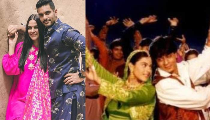 Neha Dhupia And Angad Bedi Recreate DDLJ Look For A 90s Theme Party, Reminds Us Of Raj And Simran