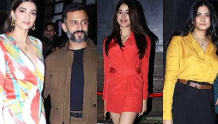 Sonam Kapoor And Anand Ahuja Flaunt 'Bhaane Love' On Its 7th Anniversary Bash, Kapoor Clan Joins In