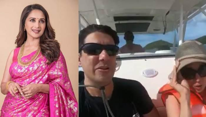 Madhuri Dixit's Snorkeling Video From Her Seychelles Vacation With Hubby Sriram Nene Is Couple Goals