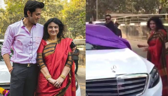 Parth Samthaan Welcomes Home A Brand New Mercedes Benz, His Mom Proudly Helps Him To Unveil It