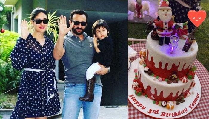 Taimur Ali Khan Celebrates His 3rd Birthday, Can't Keep His Eyes Away From His Christmas-Themed Cake