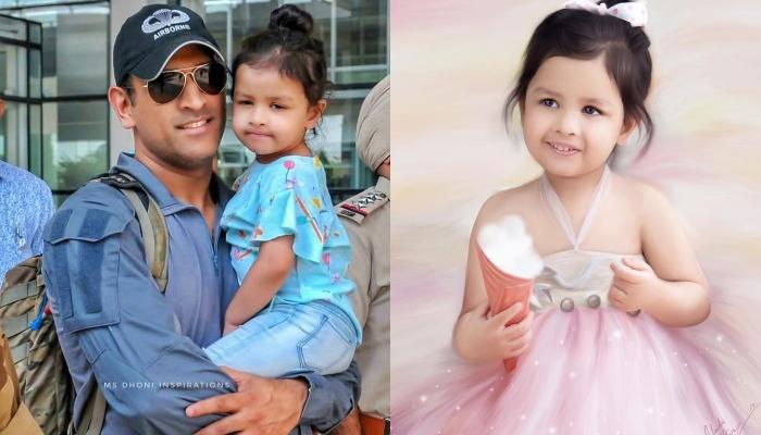 MS Dhoni's Daughter, Ziva Singh Dhoni Shows Off Her Singing Talent As She Sings A Malayam 'Bhajan'