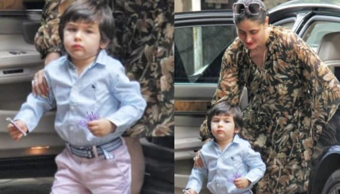 Taimur Ali Khan Looks Adorable In A Blue Shirt And We Wonder Why Time Is Flying So Fast