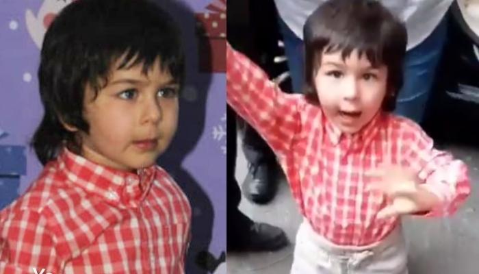 Taimur Ali Khan Says 'Hi' To The Paparazzi As He Attends Arpita Khan Sharma's Christmas Bash [Video]
