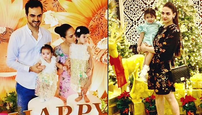 Esha Deol And Bharat Twin With Daughters, Radhya And Miraya On Christmas, Share A Family Portrait